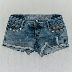 Festival Boho Factory Distressed Denim Short Size1